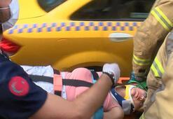 Beyoğlunda çatıdan düşen kadın ağır yaralandı
