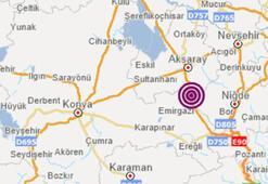 Son dakika Aksarayda korkutan deprem Depremin büyüklüğü...