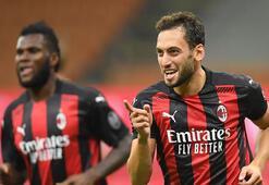 Hakan Çalhanoğlu coştu, Milan tura koştu: 3-2
