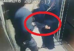 Asansörde taciz Rezalet böyle görüntülendi