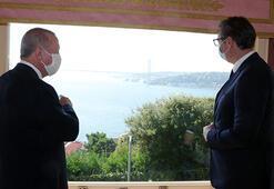 Cumhurbaşkanı Erdoğan Sırbıstan Cumhurbaşkanı Aleksandar Vucic ile görüştü
