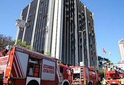 Son dakika... Beşiktaşta 9 katlı binada yangın