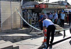 Beşiktaşta İskele Meydanındaki 2 büfenin masa ve sandalyeleri kaldırıldı