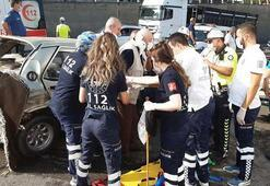 Trabzonda zincirleme kaza 5 yaralı