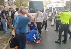 Kocaelide TIRın çarptığı minibüsteki 4 kişi yaralandı