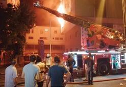 Ümraniyede 5 katlı iş yerinde korkutan yangın