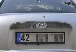 Konyada otomobilde silahlı saldırıya uğrayan iki kişi ağır yaralandı