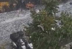 İstanbul sağanak yağış ve doluya teslim