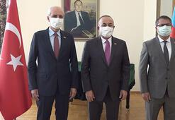 Dışişleri Bakanı Çavuşoğludan Azerbaycan Büyükelçisine ziyaret