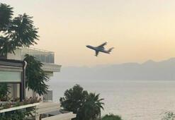 Antalyada korkutan manzara Rus pilot, kuleyi yanlış anlamış