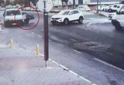 Motosiklet kazaları güvenlik kamerasına böyle yansıdı