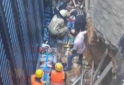 Kadıköyde inşaatta iskele çöktü