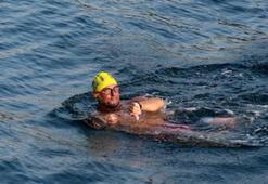 Milli yüzücü Emre Seven, Mersinden KKTCye doğru ilk kulacını attı