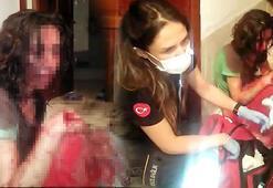 Balkondan girip kurtardılar Eli yüzü kanlar içinde...