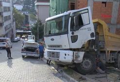 Hafriyat kamyonu dehşet saçtı
