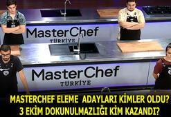 Masterchef 5.ve 6.eleme adayları belli oldu, potaya kimler girdi 3 Ekim Masterchefte dokunulmazlığı kim kazandı