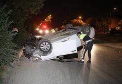 Kaza yaptı Otomobilini bırakıp kaçtı