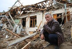 Ermenistan sivilleri hedef alıyor Ailesini elleriyle kazıyarak kurtardı