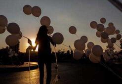 Felaketin üzerinden 2 ay geçti Yüzlerce balon bırakıldı