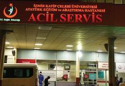İzmirde iki grup arasında bıçaklı kavga Yaralılar var...