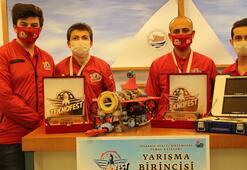 Meslek liseliler Atmaca' robot ile Teknofest'te 1'inci oldu