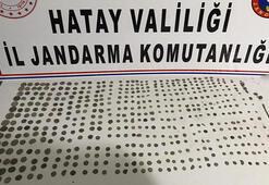 Hatay'da motosiklette 516 tarihi sikke ele geçirildi
