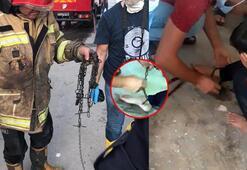Yangında 11 yaşındaki çocuk zincirlenmiş halde bulundu Korkunç gerçek ortaya çıktı...