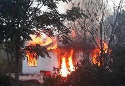 Başkentte gecekondu, alev alev yandı