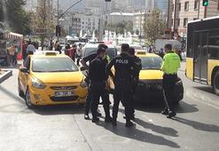 Esenyurtta yine taksici kavgası