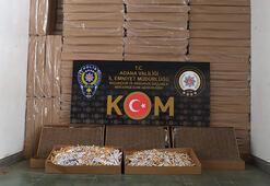Adanada 5 milyon 350 bin adet kaçak makaron ele geçirildi