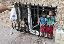 Esenyurtta evde yalnız bırakılan çocuklar için mahalleli seferber oldu