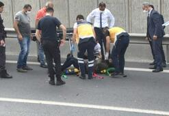 TEM Otoyolu'nda yolu karıştıran sürücü kazaya neden oldu