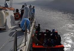 Kuşadası'nda 13 düzensiz göçmen kurtarıldı