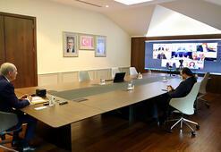 AK Parti ve Yeni Azerbaycan Partisi heyetleri video konferans görüşmesi yaptı