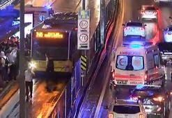 Son dakika Merterde metrobüs kazası Ekipler müdahale ediyor