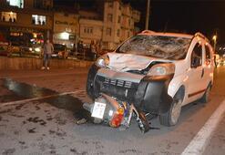 Kütahyada trafik kazası: 1 ölü, 2 yaralı