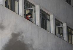 Ankarada hastane yangını Hastalar tahliye edildi