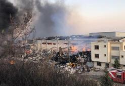 Hatayda yerleşim yerlerine de sıçrayan orman yangınını söndürmek için çalışmalar devam ediyor