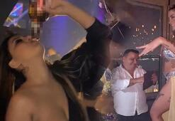 Dansözlü partide skandal eğlence