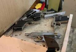 Ümraniyede silah imalathanesine baskın kamerada