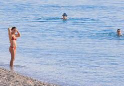 Antalyada deniz suyu sıcaklığı 27 derece