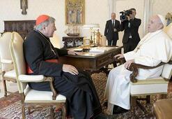 Cinsel tacizden suçlu bulunan Kardinal George Pell, Papa ile buluştu