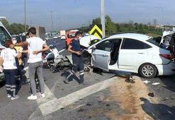 Eyüpsultan TEM Otoyolunda kaza 2si polis 5 yaralı
