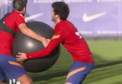 Barcelona idmanında eğlenceli anlar...