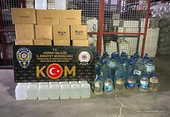 Adanada sahte içki üretilen depoya operasyon