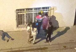 Cadde ortasında şok manzara Çocuklar nargile içti