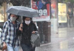 Edirnede sağanak yağış başladı