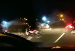 Trafik yoğunluğunu çekerken feci kazayı görüntüledi