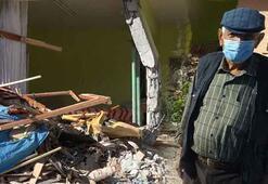 Freni boşalan vincin girdiği evin sahibi konuştu Deprem sandım