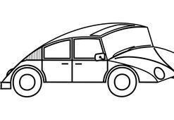 Nostaljik araba boyama sayfası